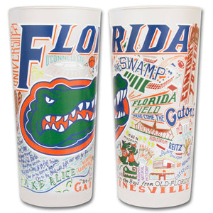 Florida, University of Collegiate Drinking Glass - catstudio