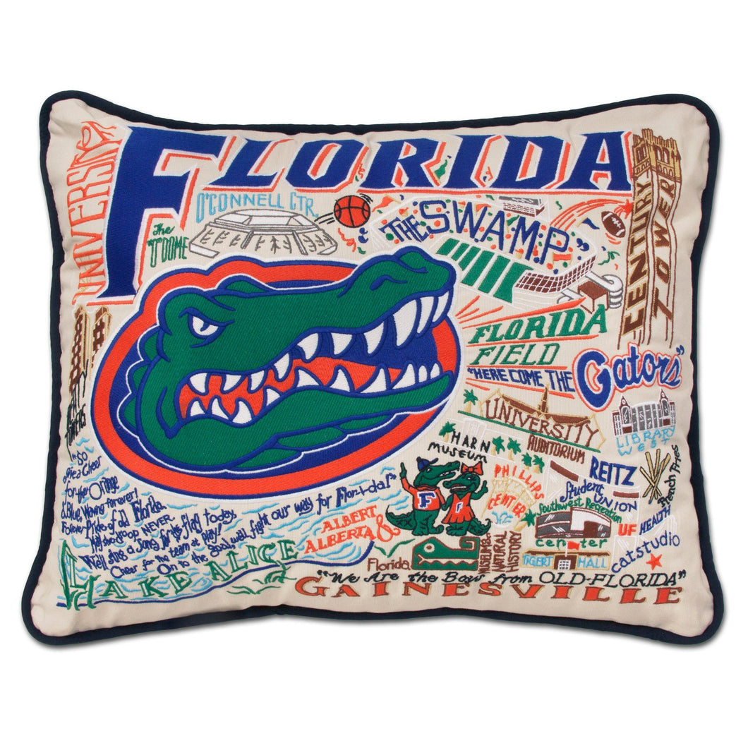 Florida, University of Collegiate Embroidered Pillow - catstudio