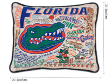 Load image into Gallery viewer, Florida, University of Collegiate Embroidered Pillow - catstudio