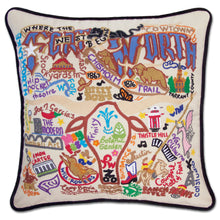 Load image into Gallery viewer, Fort Worth Hand-Embroidered Pillow - catstudio