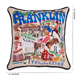 Franklin Hand-Embroidered Pillow Pillow catstudio