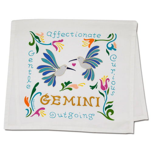 Gemini Astrology Dish Towel Dish Towel catstudio