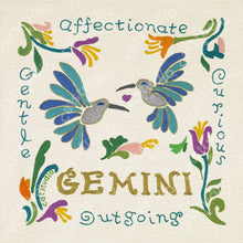 Load image into Gallery viewer, Gemini Astrology Fine Art Print - catstudio