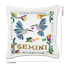 Load image into Gallery viewer, Gemini Astrology Hand-Embroidered Pillow Pillow catstudio