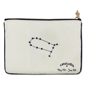 Gemini Astrology Zip Pouch - catstudio