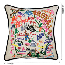 Load image into Gallery viewer, Georgia Hand-Embroidered Pillow - catstudio