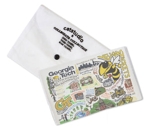Georgia Tech Collegiate Dish Towel - catstudio