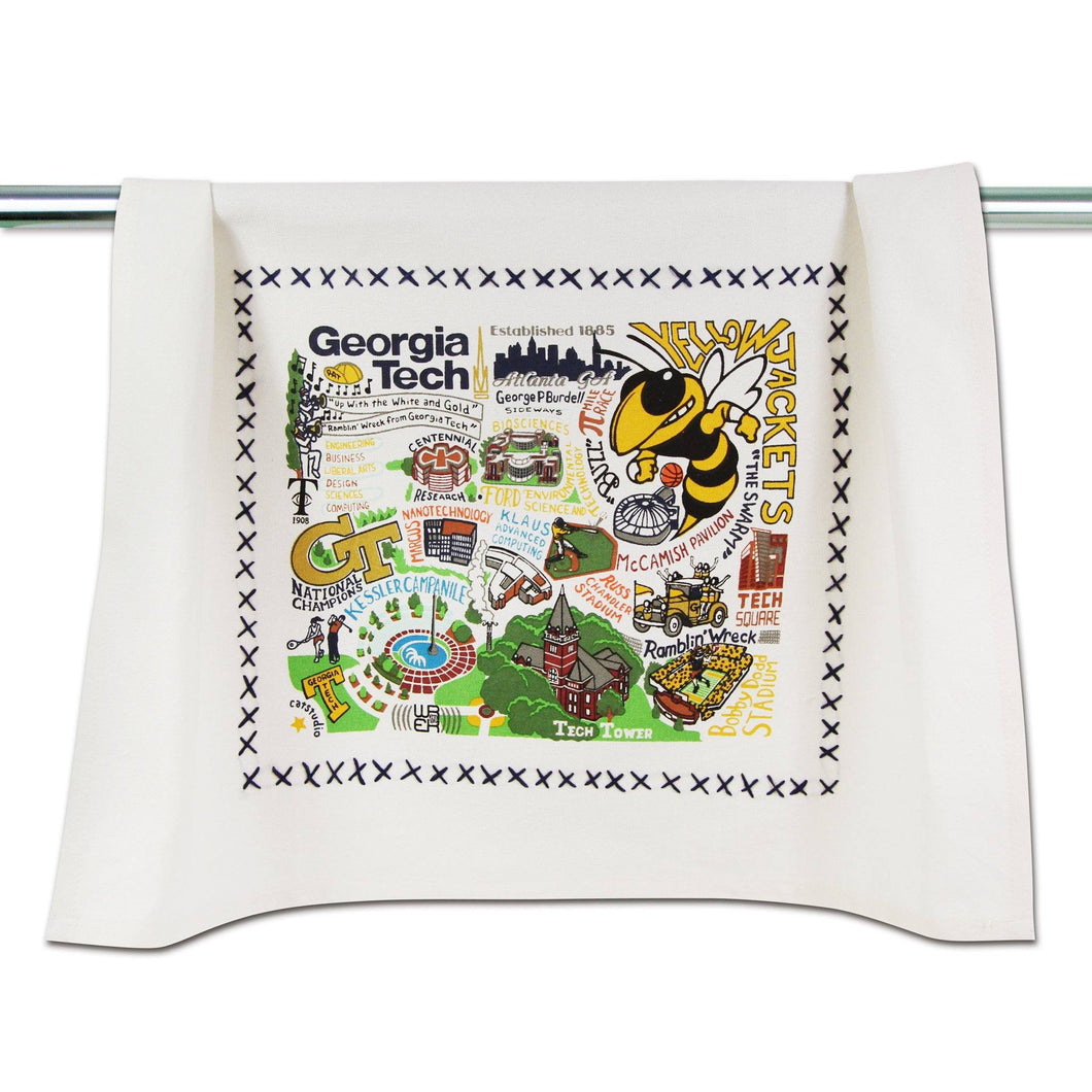 Georgia Tech Collegiate Dish Towel Dish Towel catstudio