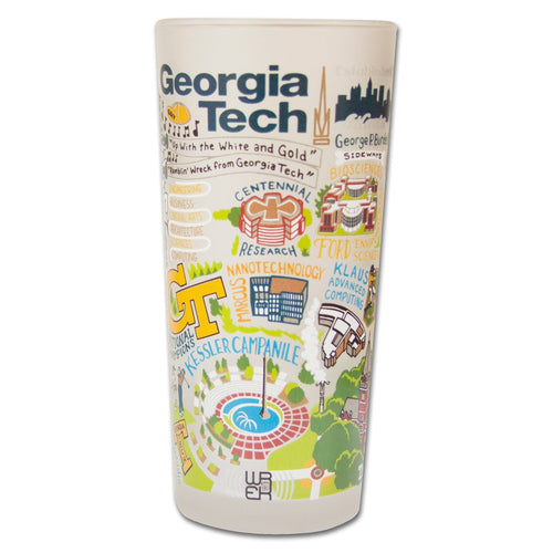 Georgia Tech Collegiate Drinking Glass - catstudio