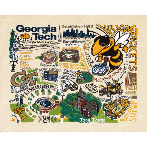 Georgia Tech Collegiate Fine Art Print Art Print catstudio
