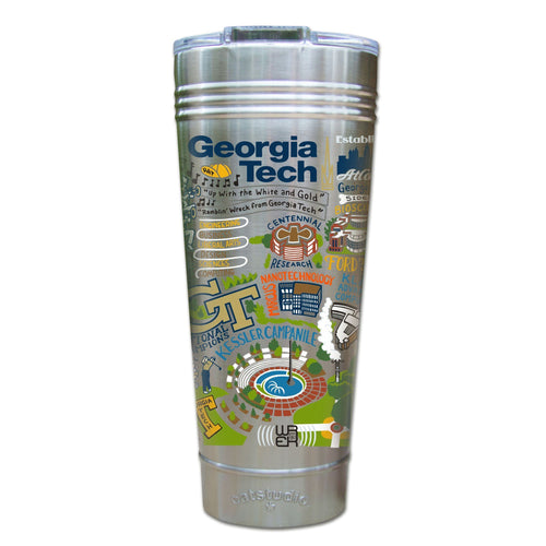 Georgia Tech Collegiate Thermal Tumbler (Set of 4) - PREORDER Thermal Tumbler catstudio