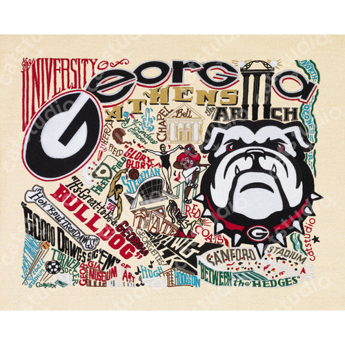 Georgia, University of Collegiate Fine Art Print - catstudio