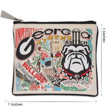 Load image into Gallery viewer, Georgia, University of Collegiate Zip Pouch - catstudio