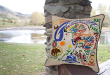 Load image into Gallery viewer, Glacier Park Hand-Embroidered Pillow - catstudio