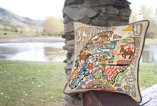 Load image into Gallery viewer, Grand Canyon Hand-Embroidered Pillow - catstudio