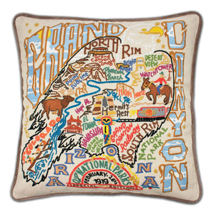Grand Canyon Hand-Embroidered Pillow - catstudio