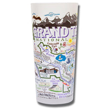 Load image into Gallery viewer, Grand Teton Drinking Glass - catstudio