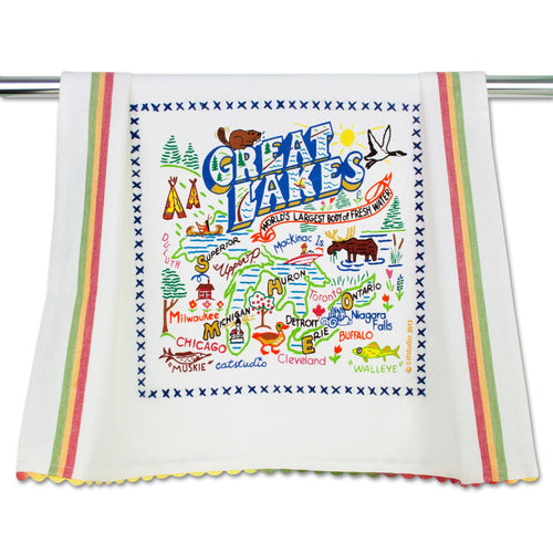Great Lakes Dish Towel - catstudio