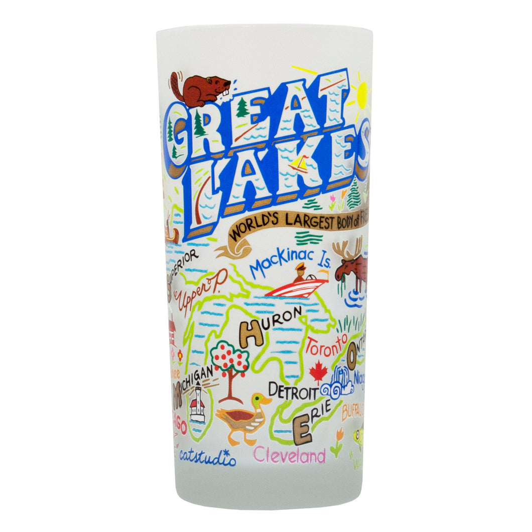 Great Lakes Drinking Glass - catstudio