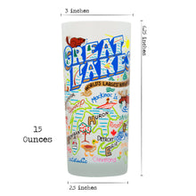 Load image into Gallery viewer, Great Lakes Drinking Glass - catstudio