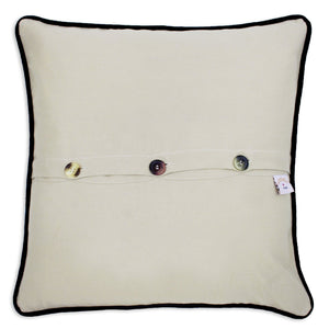 Great Lakes Hand-Embroidered Pillow - catstudio