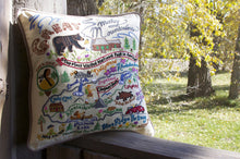 Load image into Gallery viewer, Great Smoky Mountains Hand-Embroidered Pillow - catstudio