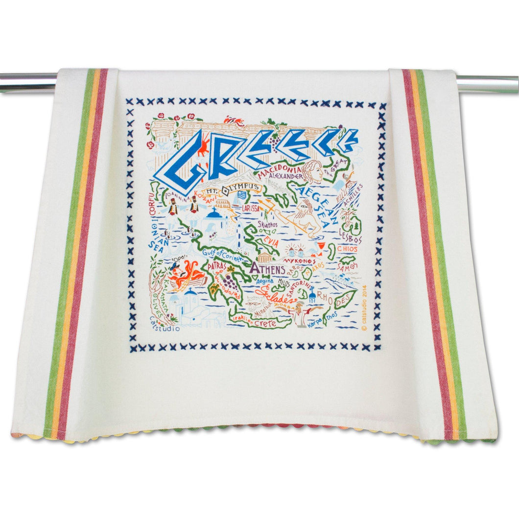 Greece Dish Towel - catstudio