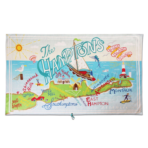 Hamptons Beach & Travel Towel Beach & Travel Towels catstudio