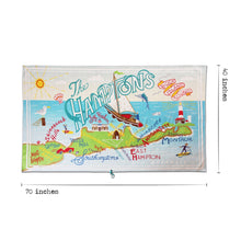 Load image into Gallery viewer, Hamptons Beach & Travel Towel Beach & Travel Towels catstudio