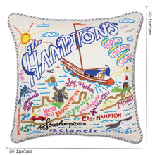 Load image into Gallery viewer, Hamptons Hand-Embroidered Pillow - catstudio