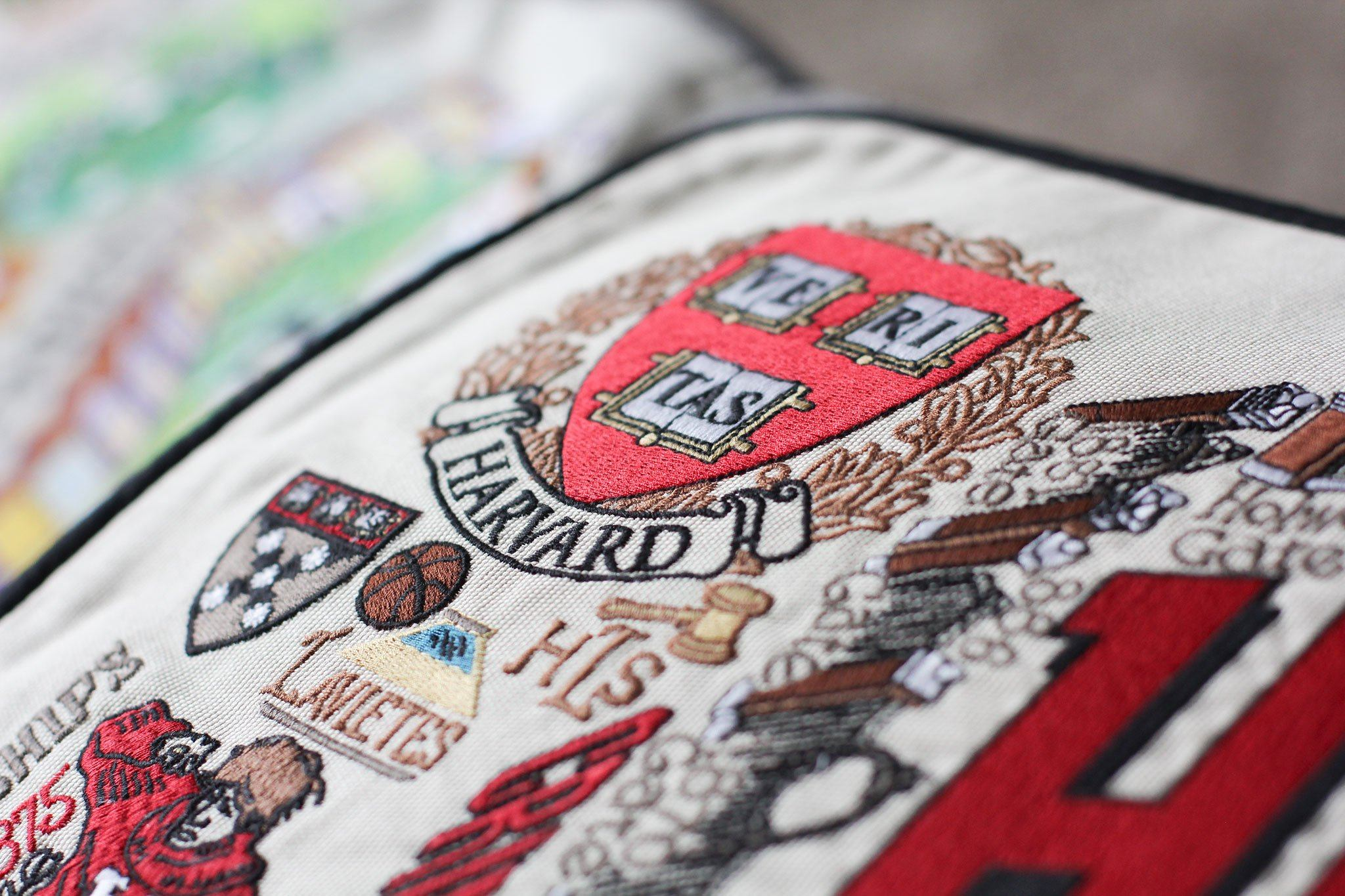 Harvard University Embroidered Pillow | Collegiate
