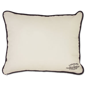 Harvard University Collegiate Embroidered Pillow - catstudio