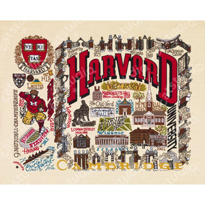 Harvard University Collegiate Fine Art Print - catstudio