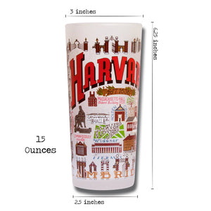 Harvard University Collegiate Drinking Glass - catstudio