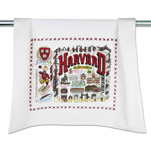 Harvard University Collegiate Dish Towel - catstudio