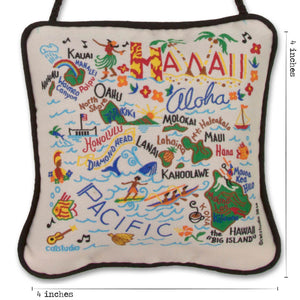 Hawaii Mini Pillow Ornament - catstudio