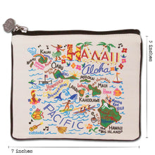 Load image into Gallery viewer, Hawaii Zip Pouch - Natural - catstudio