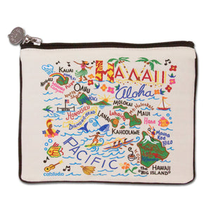 Hawaii Zip Pouch - Natural - catstudio