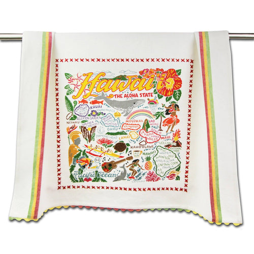 Hawaiian Isles Dish Towel - catstudio