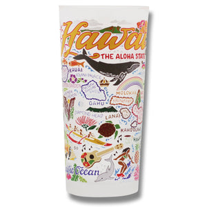 Hawaiian Isles Drinking Glass - catstudio