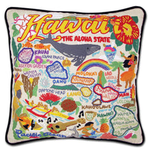 Load image into Gallery viewer, Hawaiian Isles Hand-Embroidered Pillow - catstudio