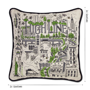 High Line New York Embroidered Pillow - Coming Soon! Pillow catstudio
