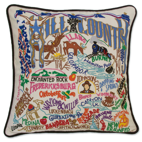 Hill Country Hand-Embroidered Pillow - catstudio