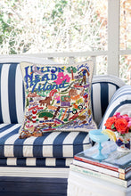 Load image into Gallery viewer, Hilton Head Hand-Embroidered Pillow - catstudio