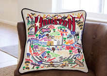 Load image into Gallery viewer, Houston Hand-Embroidered Pillow - catstudio