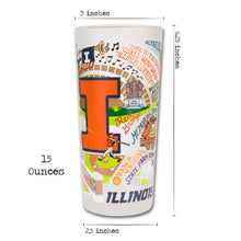 Load image into Gallery viewer, Illinois, University of Collegiate Drinking Glass - catstudio