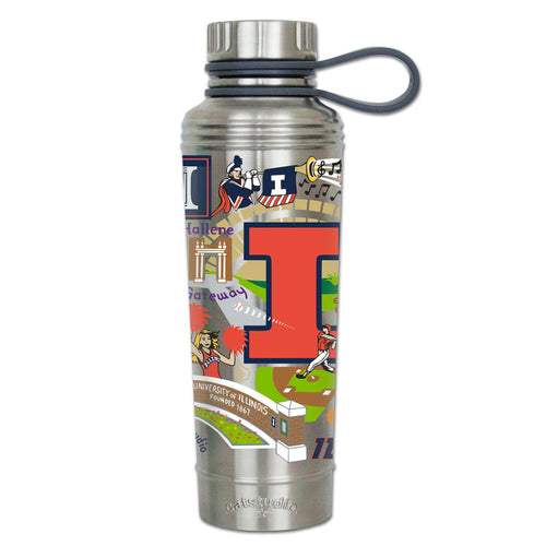 Illinois, University of Collegiate Thermal Bottle - catstudio