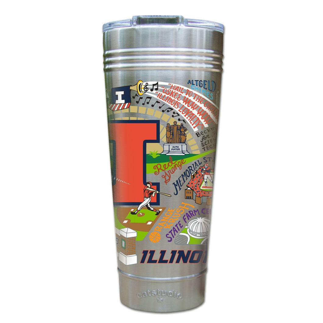 Illinois, University of Collegiate Thermal Tumbler (Set of 4) - PREORDER Thermal Tumbler catstudio