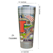 Load image into Gallery viewer, Illinois, University of Collegiate Thermal Tumbler (Set of 4) - PREORDER Thermal Tumbler catstudio
