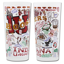 Load image into Gallery viewer, Indiana University Collegiate Drinking Glass - catstudio